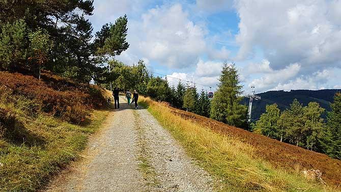 Wanderweg auf den Ettelsberg