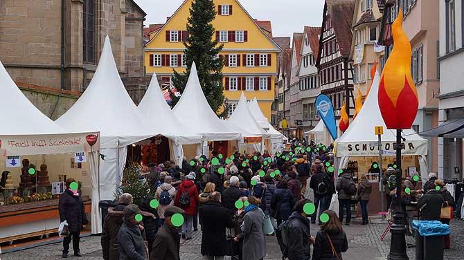 Holzmarkt Tübingen als Zentrum der chocolart
