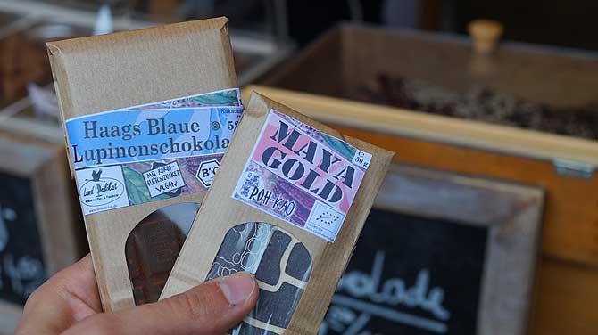 Lupinenschokolade und Maya Gold