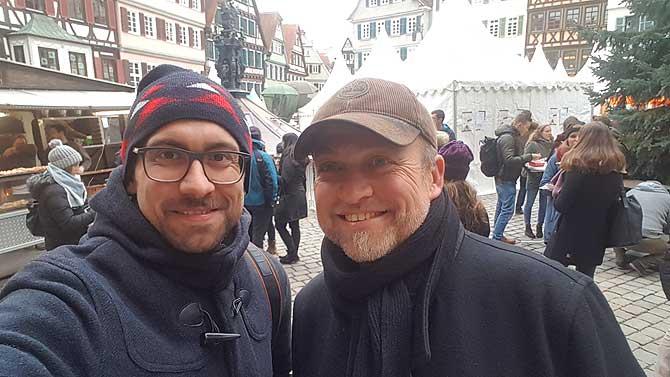 Ich und Hans-Peter, dem Chef der chocolart Tübingen