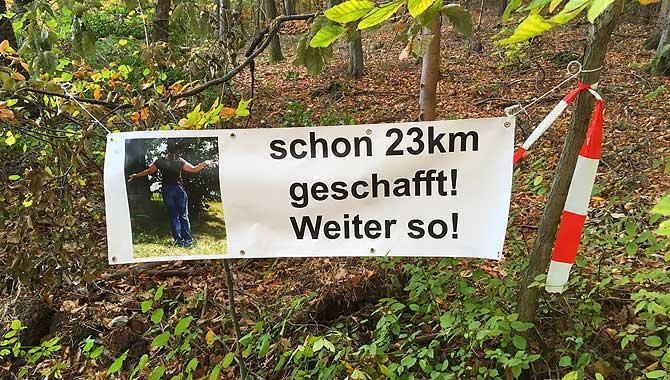 23 Kilometer noch nicht einmal Halbzeit
