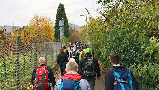 Aufstieg auf den Stuttgarter Kesselrand