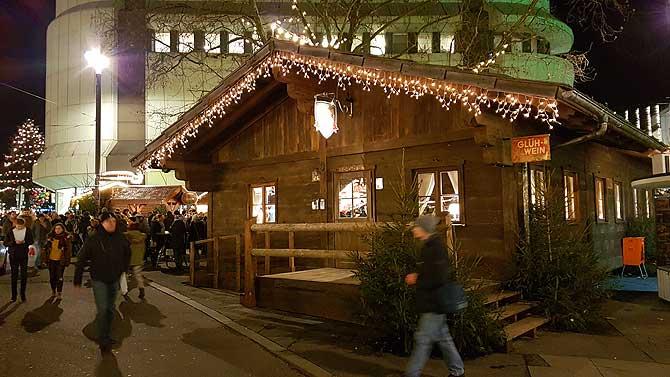 Skihütte auf dem Darmstädter Weihnachtsmarkt