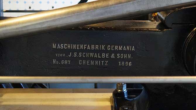 Dampfmaschine von Germania