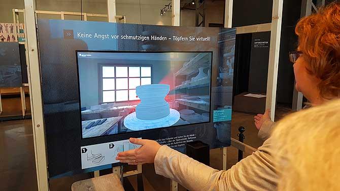 Virtuelles Töpfern im Industriemuseum Chemnitz
