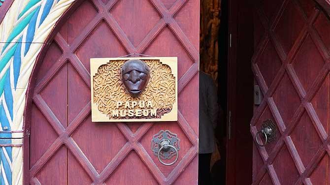 Eingang zum Papua Museum Gelnhausen
