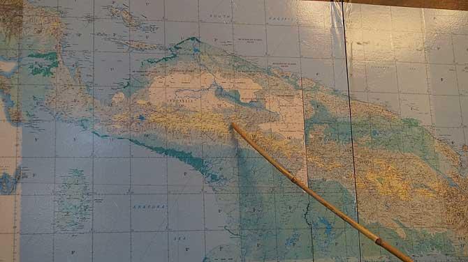 Landkarte von Papua Neuguinea