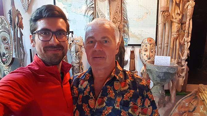 Ich und Werner in seinem Papua Museum Gelnhausen