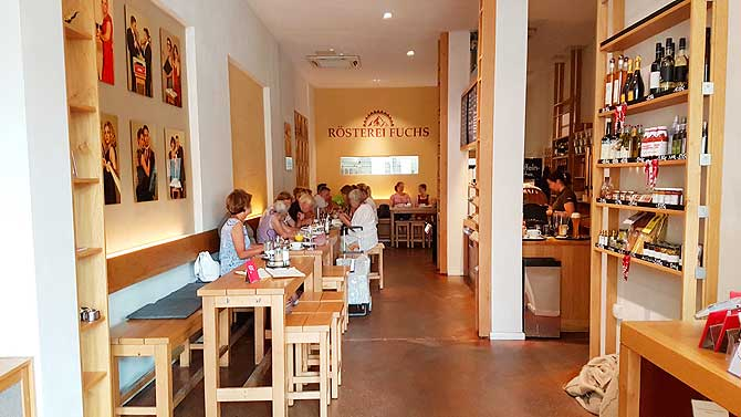 Kaffee Rösterei Fuchs Schwerin Innenraum