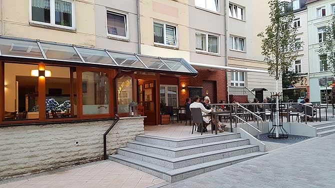 Fisch Restaurant Lukas Schwerin Aussenbereich