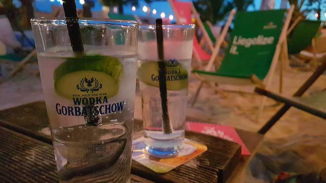 Sky Beach Club Schwerin Gin Tonic
