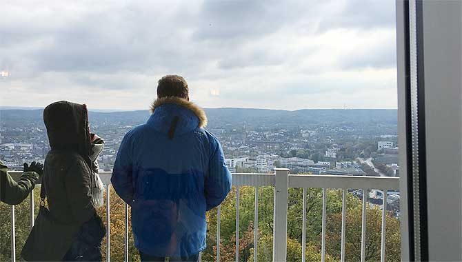 Ausblick vom Cafe im Drehturm Aachen