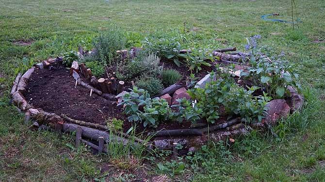 Kräuterbeet im Garten