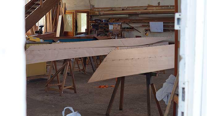 Blick in die Boots-Werkstatt