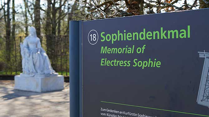 Denkmal in Gedenken an Kurfürstin Sophie