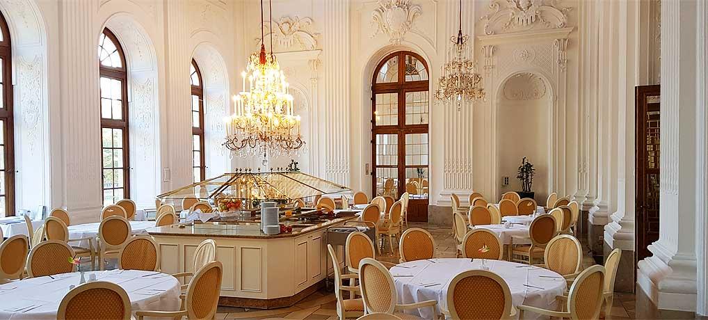 Das Maritim Hotel Fulda besticht vor allem durch seinen tollen Frühstücksraum