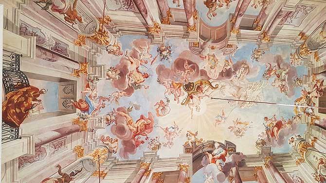 Barocke Decke in der Orangerie Fulda