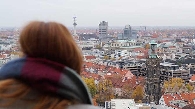 Skyline von Hannover mit VW Tower