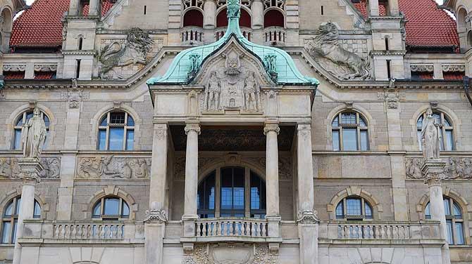 Balkonfassade Neues Rathaus Hannover