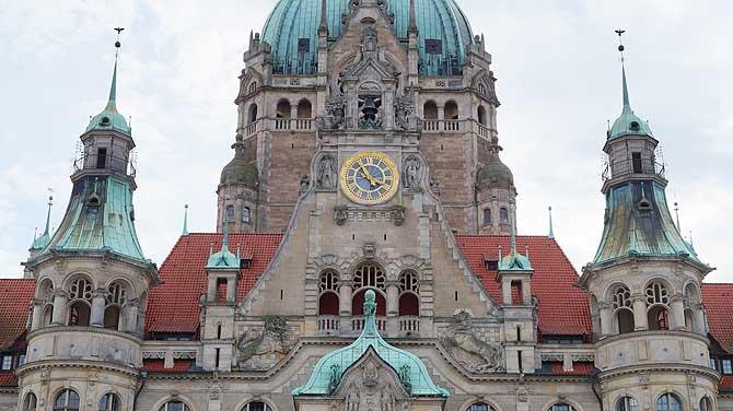 Das Neue Rathaus von Hannover ist ein tolles Fotomotiv