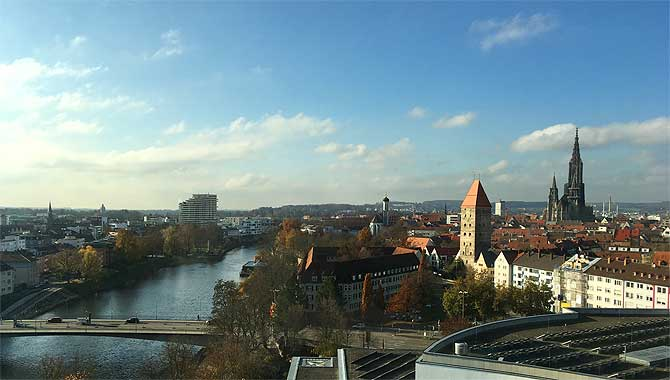 Ausblick vom Hotel aufs Ulmer Münster