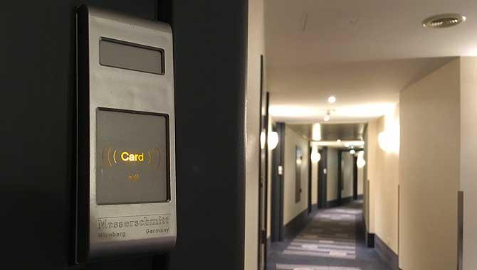 Schlüsselkarte zum Hotelzimmer