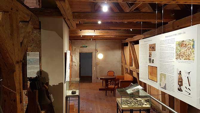 Ausstellung im Dach von Schloss Stolpe Usedom