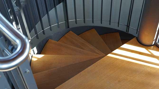 Wieviele Stufen sind an der Treppe?