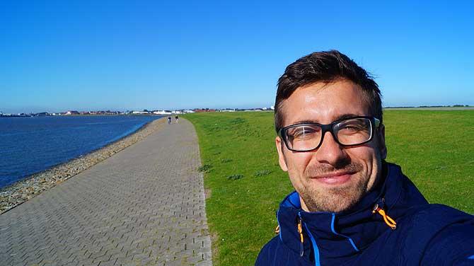 Ich beim Urlaub auf Norderney