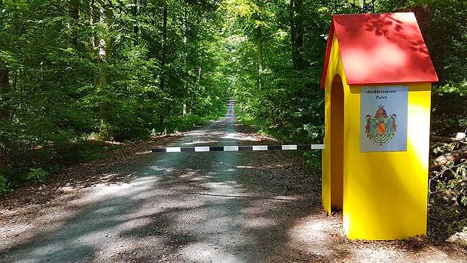 Grenzposten zwischen Baden und Schwaben
