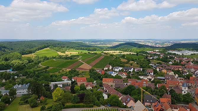 Ausblick vom Schlossbergturm Sternenfels