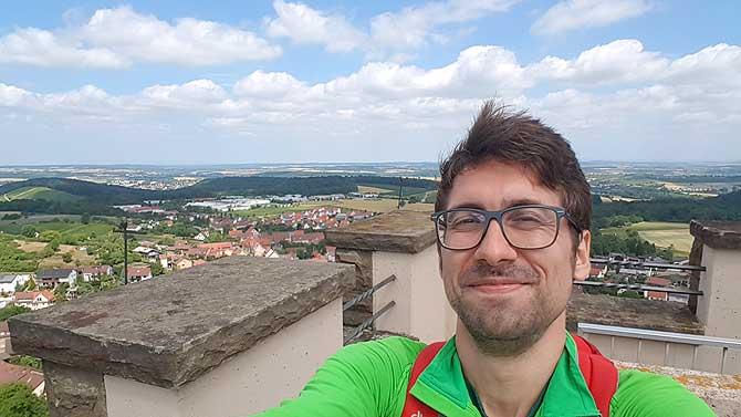 Ich auf dem Schlossbergturm bei Sternenfels