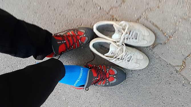 Schuhe sind das wichtigste Schuhwerk für einen Wandermarathon