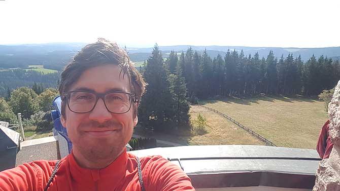 Ich auf dem Brendturm bei Furtwangen