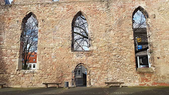 Gerippe der Aegidienkirche
