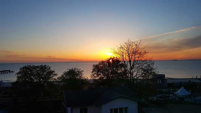 Toller Sonnenaufgang beim Usedom Urlaub