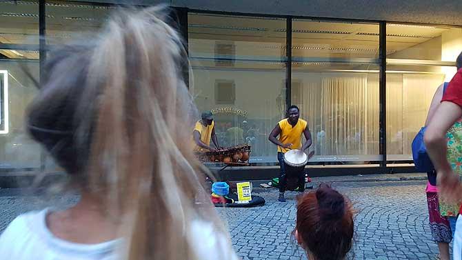 Spannende Strassenmusiker