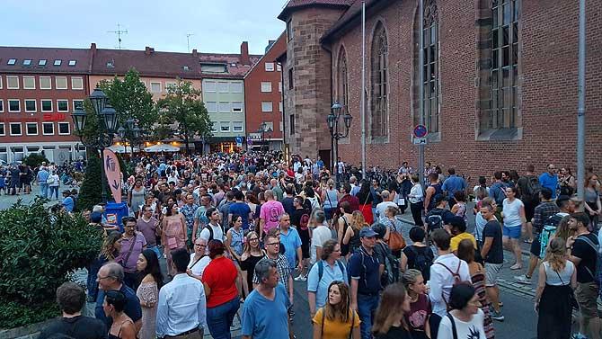 Viel los auf dem Nürnberger Bardentreffen