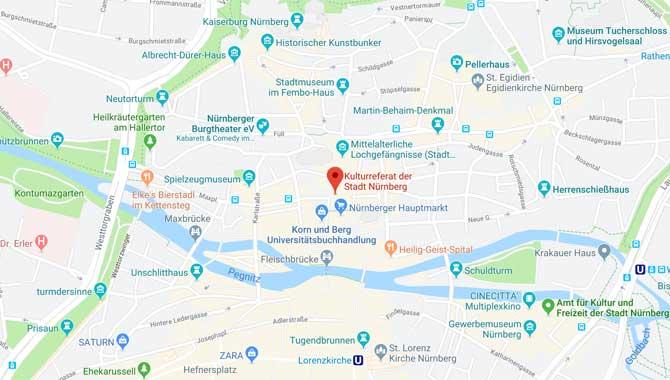 Karte und Anlage Bardentreffen Nürnberg