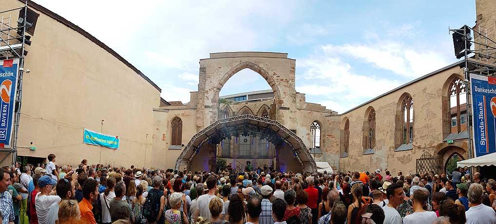 Das Nürnberger Bardentreffen ist das grüßte kostenlose Open Air Festival in Deutschland