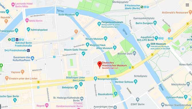 Deutsches Historisches Museum auf Karte der Lage