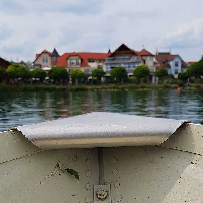 Super Blick aufs Hotel am See