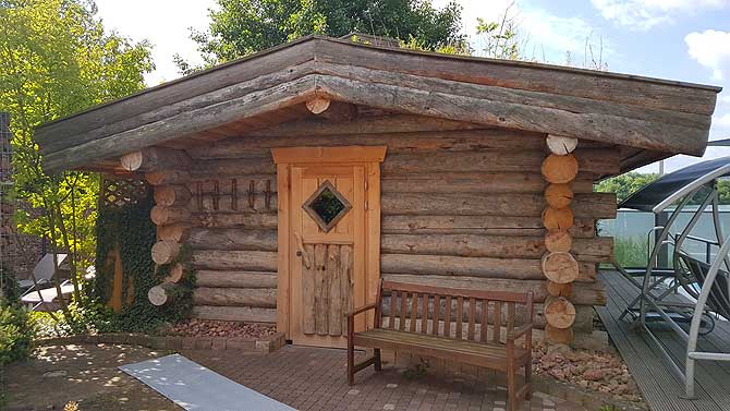 Finnische Holzsauna