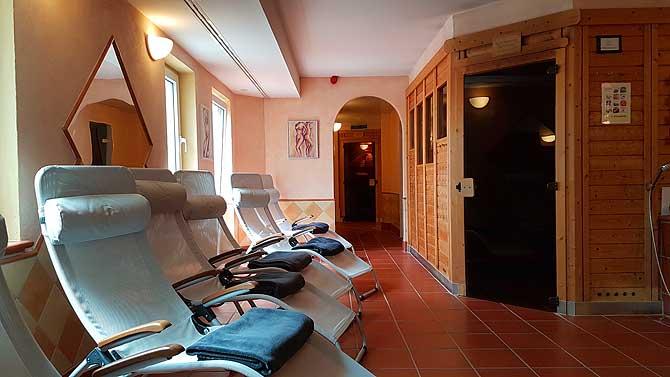 Klassische Sauna im Wellness und Spa Bereich