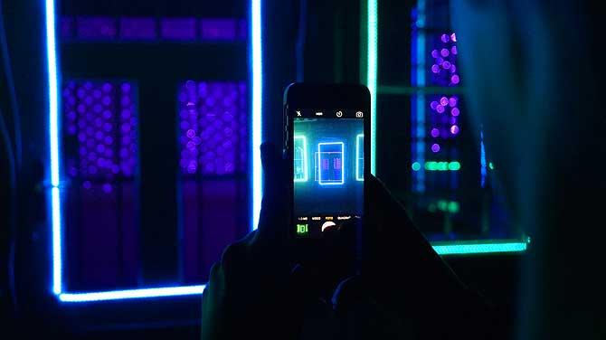 Gruselhaus vom Lichtparcours