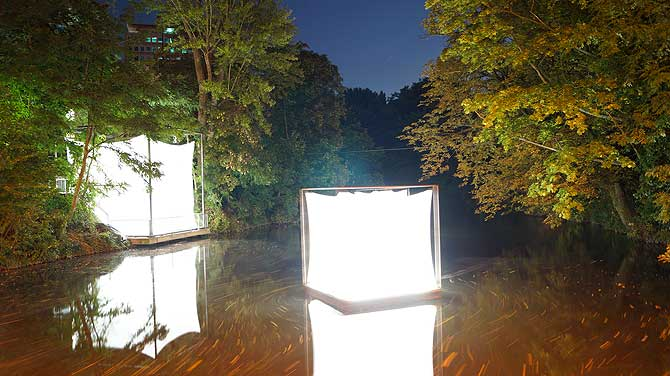 Würfel vom Lichtparcours Braunschweig