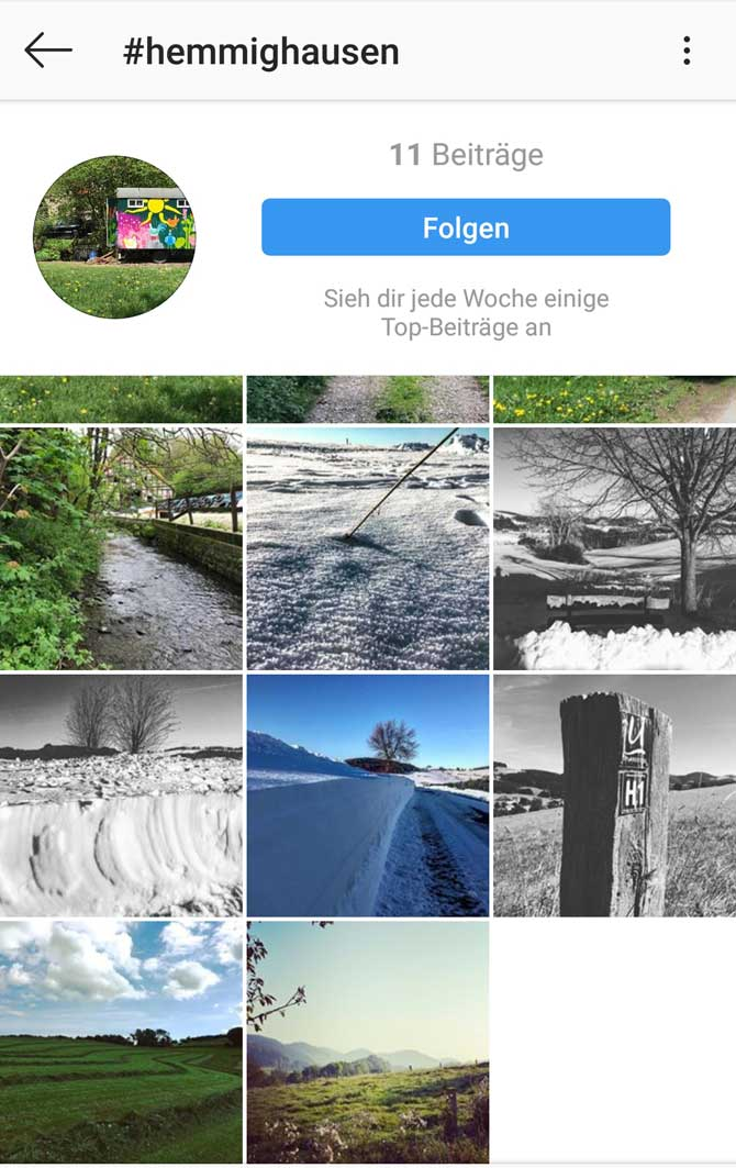 Instagram Hashtag Hemmighausen