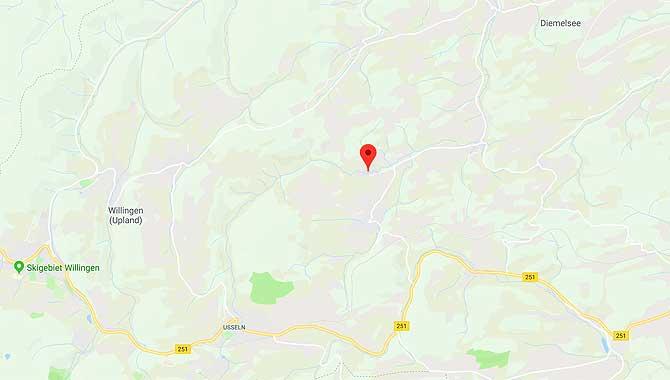 Lage der Speiermühle in Hemmighausen