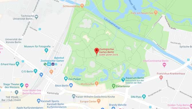 Karte und Anfahrt zum Berliner Zoo