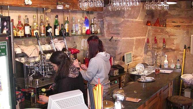 Cafe Wanderer von innen